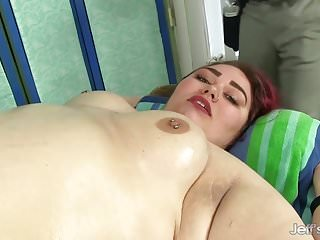 Preview 4 of BBW Big Tender Has Her Fat Body and Hairy Pussy Massaged