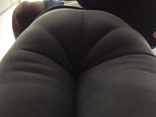 On sweatpants milf ebony nice in booty this with