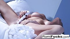 Solo fun on the bed