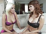 Joslyn James Teaches a Young Blonde To Lick Pussy
