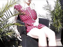 Yolana Demontfort CD TV Outdoor Strip and Breast Play