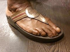 Shoe Shopping with BBW Ebony GILF... with Huge Feet!!!