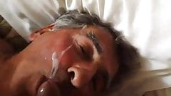 Older guys face cum