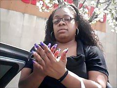 Ms. Yonda Purple Toenails
