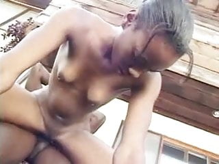 Preview 2 of Amateur - Skinny Ebony Teen fucked by BBC