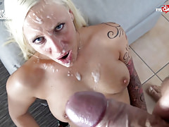 My Dirty Hobby - Busty ass babe gets monster facial