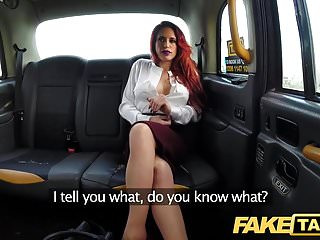 Preview 3 of Fake Taxi Personal busty redhead trainer in wild taxi fuck