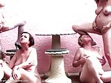 Busty young girls make fisting and pissing with moms