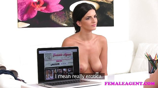 Preview 1 of FemaleAgent Busty make up artist gets agent wet and horny
