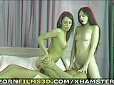 Porn Films 3D - Their first anal threesome