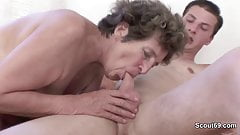 Hairy old mother get anal fucked by not her german step-son