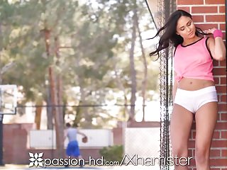 Preview 1 of PASSION-HD Obsessed March Madness fan Ariana Marie fucked