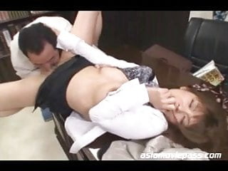 Preview 2 of Japanese office Lady Fucked Asian Cuckold juc361