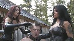Outdoor slave humiliation