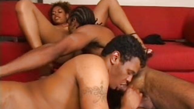 Preview 1 of Black Bisexual Threesome