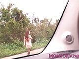 Japanese mature Hitomi Tanaka pounded outdoors