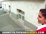 Fucking Glasses - Bored cutie fucked for cash