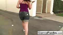 Busty Gianna gets pounded by black cock