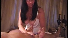 Hubby gets a treat from Linda as stranger watches and films