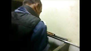 Caught - Security Guards pissing in the public toilet