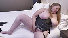 Huge busty mother with hungry old cunt