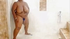bbw showering from dominican republic