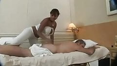 Thick Latina Massages his Muscle MC169