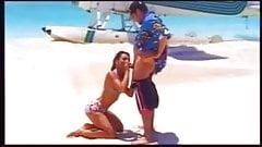 hot brunette beach sex