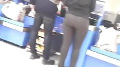 PERFECT PAWG at Checkout Line!!