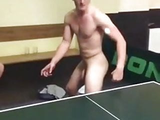 Amateur frat twink takes cock on ping pong table