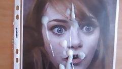 Emma Stone cum tribute #1
