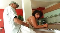 Young french arab bbw fucked by an old man