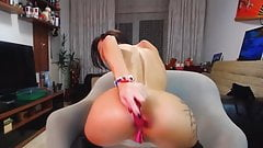 Up my ass with dildo in stockings and boots 's Thumb