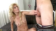European mother suck and fuck young guy