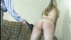 Blonde teen schoolgirls spanked naked