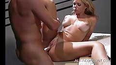 Blonde babe screwed by doctor in his office