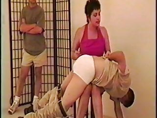 strong woman spanks two mans part 1 of 4