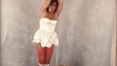 Punishing the naughty maid with bondage