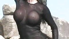 Bit Tit Beautiful Blonde at the Desert