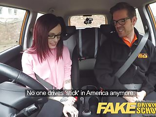 Preview 2 of Fake Driving School American Teen Creampied by Instructor