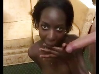 Ebony Gets Rough Fuck From White Cocks