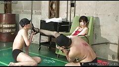 Japanese Femdom Shoe Licking and Worship