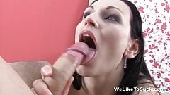 Dick licking action