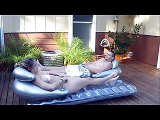 Lotion for breast - Katie makes step brother rub sun lotion on her hot body