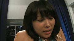 Dirty Asian babe moans while getting fucked