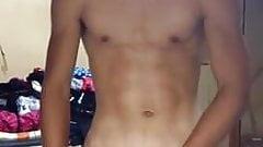 cute asian boy wanking & cuming (29'')