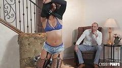 Ebony Misty Stone Gets Stuffed In Her Pussy By A White Guy