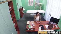 Hot blonde Victoria makes a sexual deal with her doctor