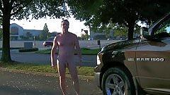 Parking lot nude