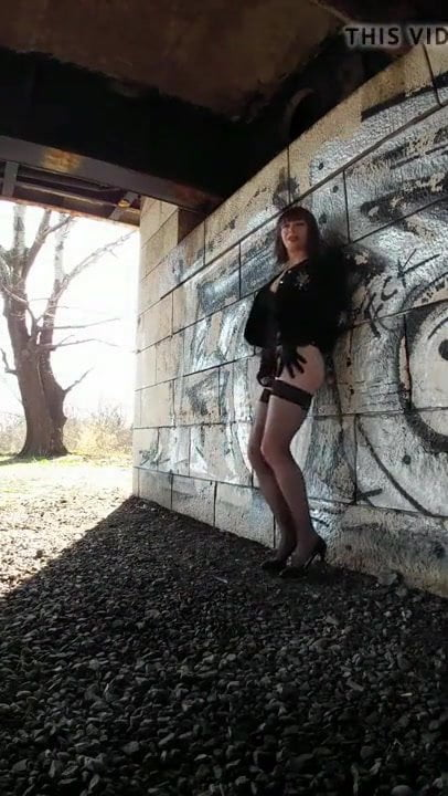 Very Hot Sissy Fapping in Public
